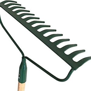 Garden Bow Rake Wood Handle Landscape Cultivator Gardening Tool