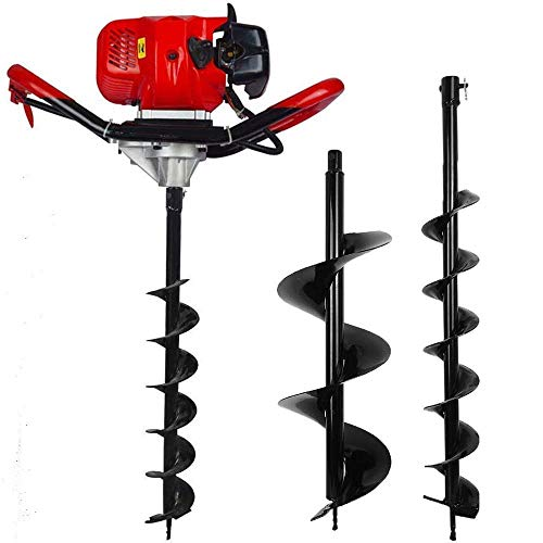 """FISTERS 2.5HP Gas Powered Post Hole Digger with 6"""" & 10""""Earth Auger"""