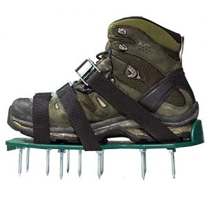 Punchau Pre-Assembled Lawn Aerator Shoes with Metal Buckles and 3 Straps