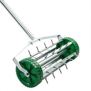 MAREEYA SHOP Rolling Lawn Aerator Heavy Duty Garden Yard Tool