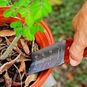 Garden Guru Hori Hori Garden Knife for Weeding, Digging, Pruning, and Cultivating