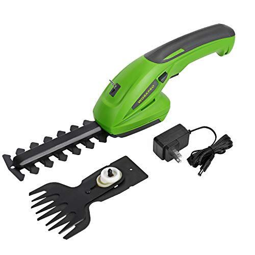 WORKPRO 7.2V 2-in-1 Cordless Grass Shear + Shrubber Trimmer