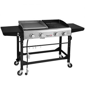 Royal Gourmet Portable Propane Gas Grill and Griddle Combo