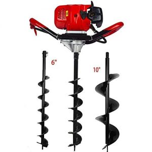 ECO-WORTHY 52cc 2.4HP Gas Powered Post Hole Digger