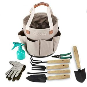 Scuddles Garden Tools Set - 9 Piece Heavy Duty Gardening Tools
