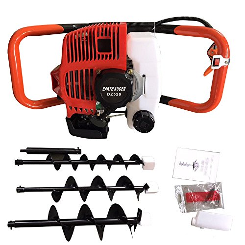 BSTOOL 52CC 2.3HP Gas Powered Post Hole Digger Earth Auger Post Fence Hole