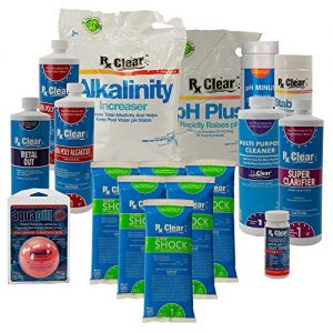 Rx Clear Deluxe Spring Chemical Opening Pool Cleaning Kit