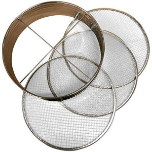 "4pc Soil Sieve Set, 12"" diameter - Stainless Steel Frame"