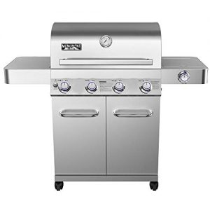 Monument Grills Stainless Steel 4 Burner Propane Gas Grill