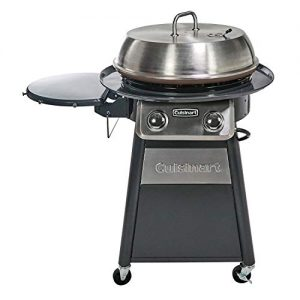 Cuisinart Grill Stainless Steel Lid 22-Inch Round Outdoor Flat Top Gas