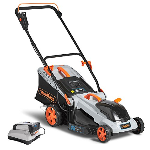 VonHaus 40V Max.16-Inch Cordless Lawn Mower Kit with 6 Level