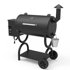 Z GRILLS Wood Pellet Grill BBQ Smoker Black