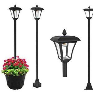 "65"" Street Vintage Outdoor Garden LEDs Bulb Solar Lamp Post Light Lawn"