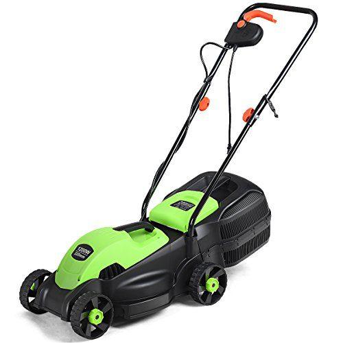 Goplus 14-Inch 12 Amp Lawn Mower w/Grass Bag Folding Handle Electric
