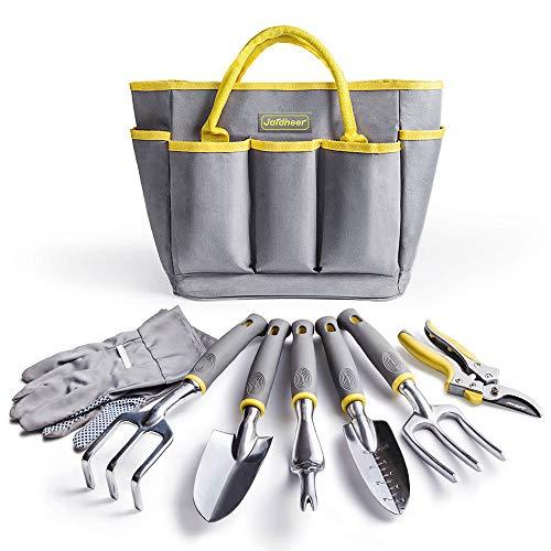Jardineer Garden Tools Set, 8PCS Gardening Tools Kit with Garden Hand Tools