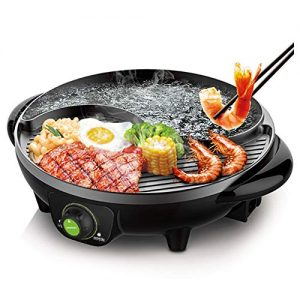 LIVEN Electric Hot Pot with Grill and Non-Stick Coating