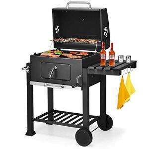 Giantex BBQ Charcoal Grill Portable Barbecue Grill for Lawn Picnic Backyard