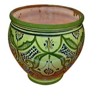 Flower Pot Moroccan Spanish Garden Drain Hole Ceramic Planter
