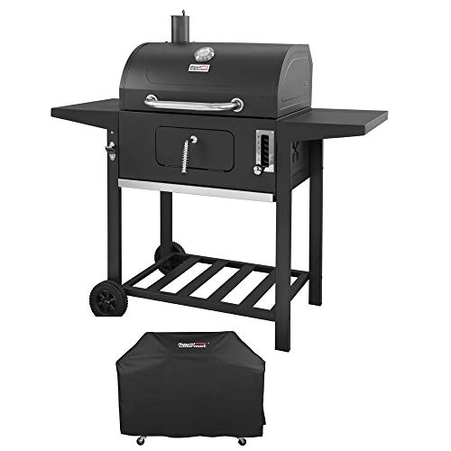 Royal Gourmet 24 Inch Charcoal Grill, BBQ Outdoor Picnic