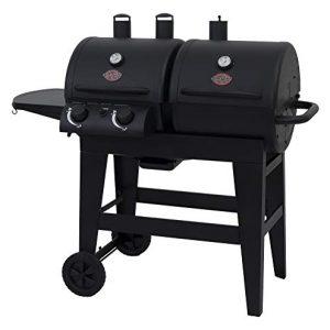 Char-Griller Burner Gas & Charcoal Grill Dual Function, Black