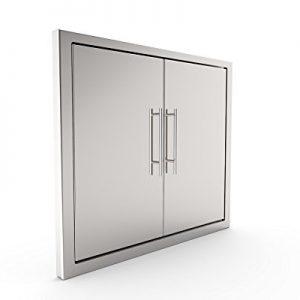 BBQ Grill Access Door/Elegant 31 Inch Grade Stainless Steel