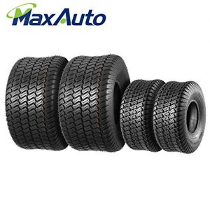 Set of 4 Lawn Mower Turf Tires 15x6-6 Front & 20x10-8 Rear