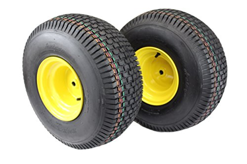 (Set of 2) Tires & Wheels 4 Ply for Lawn & Garden Mower Turf Tires