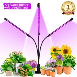 Grow Light, Ankace 2019 Upgraded Version 60W Tri Head Timing