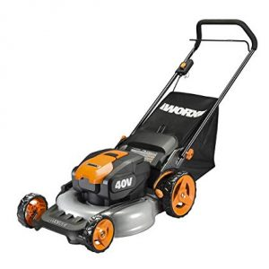 WORX 40V 19'' Cordless Lawn Mower, 2 Batteries and Charger Included