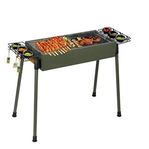 Uten Barbecue Charcoal Grill Stainless Steel, Portable BBQ