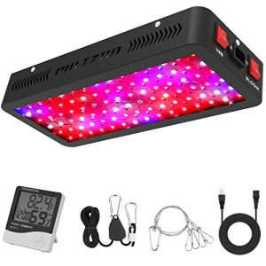 Phlizon Newest 600W LED Plant Grow Light,with Thermometer Humidity Monitor