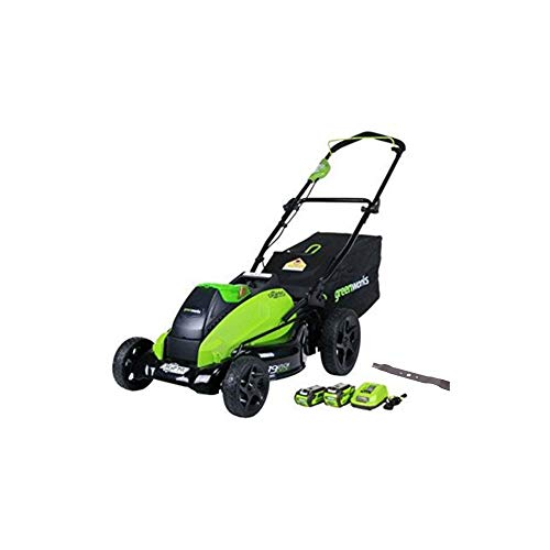 GreenWorks 19-Inch 40V Cordless Lawn Mower + Extra Blade