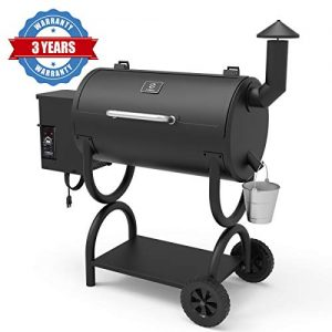 Z GRILLS Wood Pellet Grill 2019 Model 7-in-1 BBQ Smoker with PID Controller for Outdoor Cooking 550SQIN Barbecue Area 10LB Hopper (ZPG-550B)