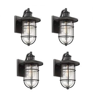 Bestshared Outdoor Wall Sconce, 1-Light Vintage Exterior Wall Light