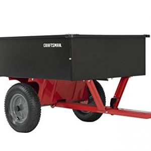 Craftsman 12-cu ft Steel Tow Dump Cart, Black