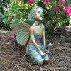 "Suffolk Fairies Homestyles Rebecca Fairy Large 13"" h Sitting Garden Statue"
