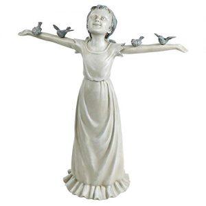 Design Toscano Basking in God's Glory Little Girl Outdoor Garden Statue