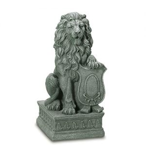 Gifts & Decor Lion Guardian Crested Shield Home Garden