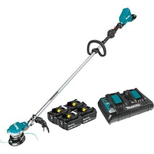 Makita Lithium-Ion Brushless Cordless String Trimmer Kit with 4 Batteries