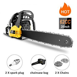 "couply 62CC Cordless Chainsaw, 20"" Gas Powered Chainsaw"