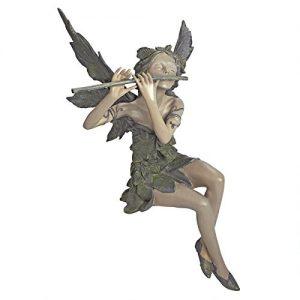 Design Toscano Fairy of the West Wind Sitting Garden Statue