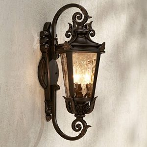 Casa Marseille Outdoor Wall Light Fixture Bronze Scroll