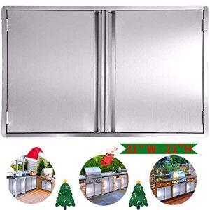 CIOGO BBQ Access Door 31x21 Inch Double Wall Outdoor Kitchen Door