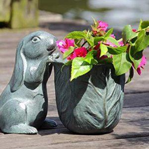 "Ebros Gift 11.25"" Long Aluminum Rustic Whimsical Peeking Bunny Rabbit"