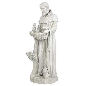 Design Toscano Nature's Nurturer Saint Francis Garden Statue Birdfeeder
