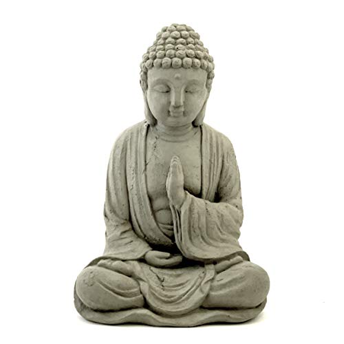 Blessing Buddha Statue: Solid Durable Stone. Perfect Home Garden Gift