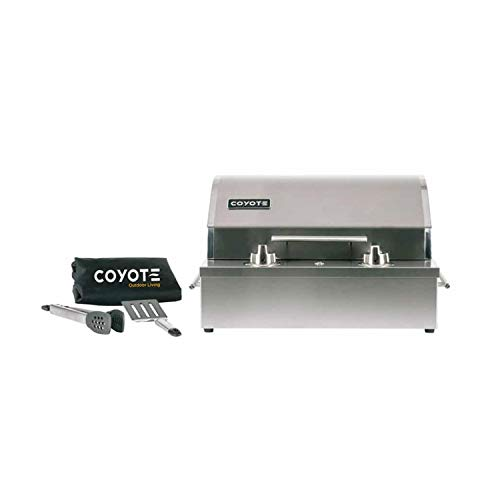 Coyote Outdoor Living 19 Inch 2 Burner Portable Electric Indoor or Outdoor Grill