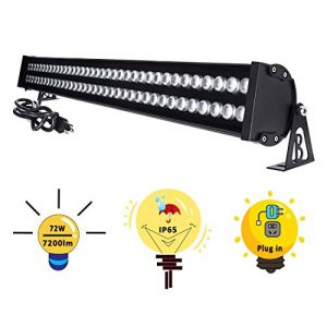 """YRXC 72W LED Wall Washer Lights 3.2ft/40"""" 120V IP65 Waterproof"""