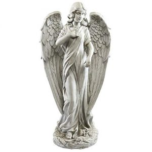 Alpine Corporation Angel Statue Outdoor Garden, Patio, Deck