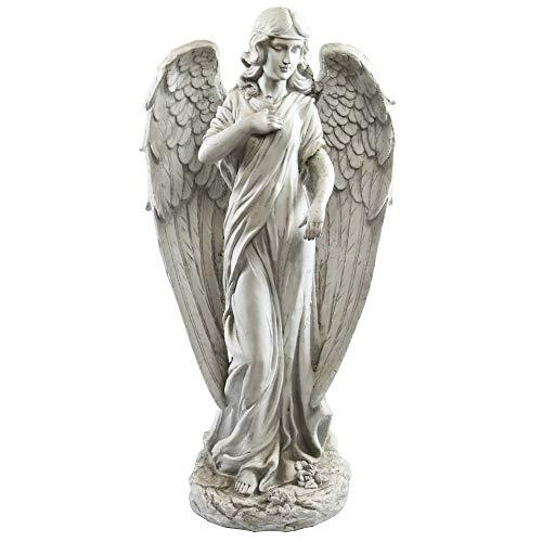 Alpine Corporation Angel Statue Outdoor Garden, Patio, Deck